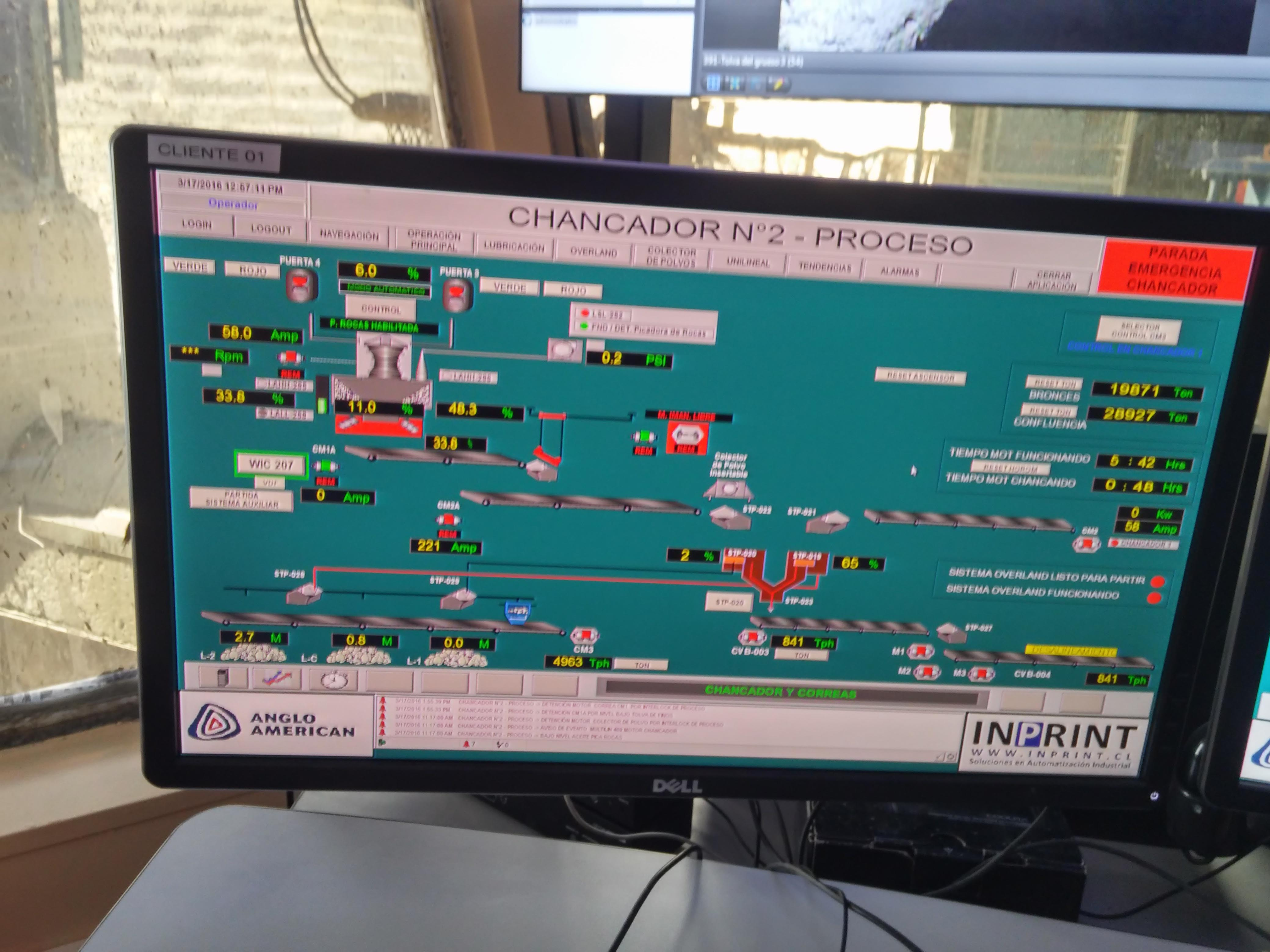 HMI Chancado y Correas - programacion PLC